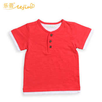 LeJin Children Boys Clothing T Shirts Boy T Shirt Kids Tops Summer Wear in 100% Cotton Slubbed Fabric