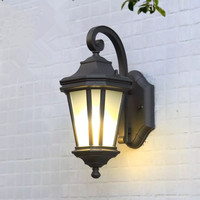 HAWBERRY American style simple outdoor wall lamp waterproof courtyard European retro balcony lamp wall mounted octagonal cage