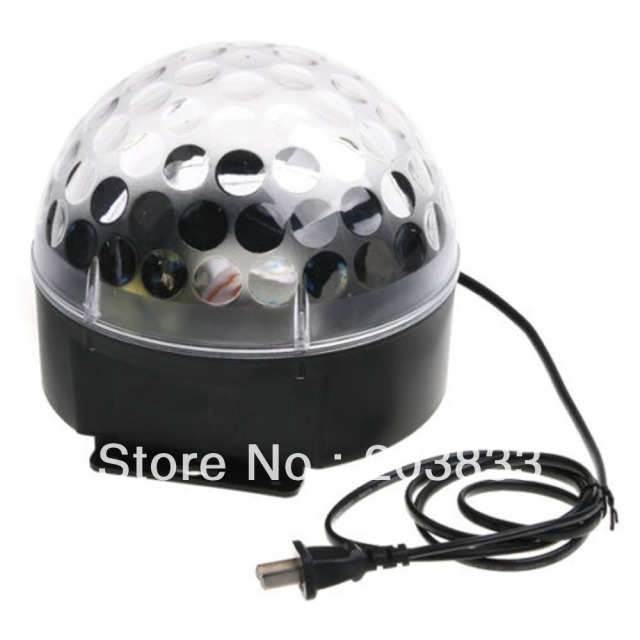 Auto Voice-activated LED RGB Crystal Magic Ball Effect Light Disco DJ Stage
