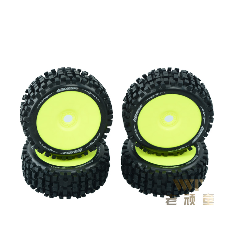 Здесь можно купить  4pcs L-T324SY L-T324SW Taiwan Louise 1/8 cross-country wear-resisting tire short card all terrain 17MM combiner use for RC Car  Игрушки и Хобби