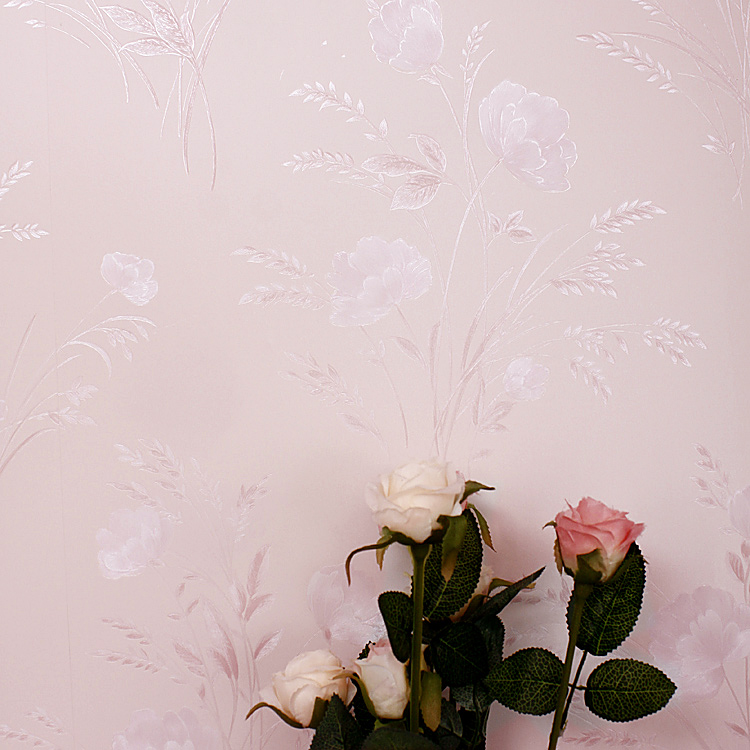 Endomorph Rustic Small Flower 50069 Satin Fabric Bedroom Wallpaper Light Pink Damask Roll 53cm10m In Wallpapers From Home Improvement