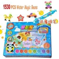1530PCS Aqua Beads Puzzles Toys Set Water Magic Beans Perler Beads 3D Puzzle Aquabeads Perlen 18 Colors Educational Kids Toys
