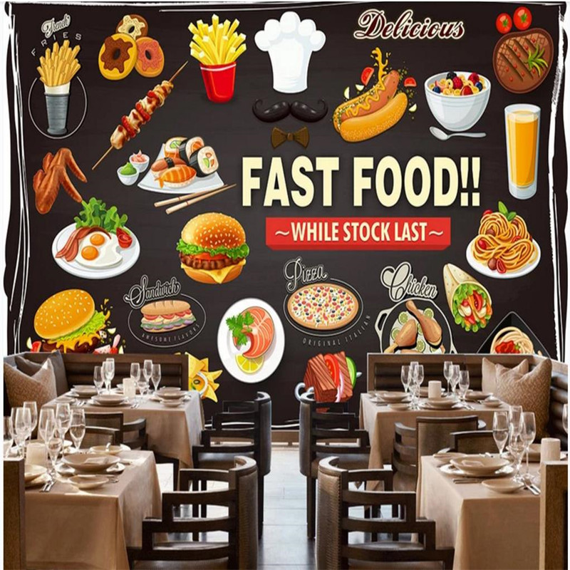Custom wallpaper mural HD hand painted Western restaurant background wall painting high grade wall covering in Fabric Textile Wallcoverings from Home Improvement