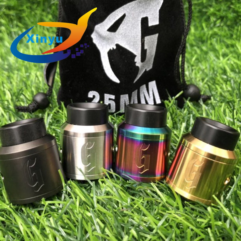 2018 NEWEST Arrived 1:1 528 GOON 25 RDA Apocalypse GEN 25 RDA Atomizer With Wide Bore Drip Tip 25mm PEEK Insulators Fit 510 Mods