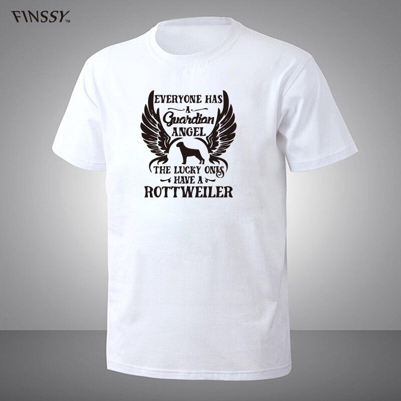 Brand Funny My Guardian Angel Is A Rottweiler T Shirt Short Sleeve T-shirt Top Camiseta