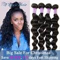 7A Brazilian Loose Wave Virgin Hair 4Bundles Cheap Brazilian Hair Weave Bundles Human Hair Extension Brazilian Virgin Hair Weave