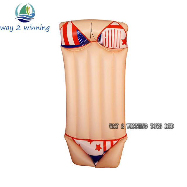 d1aa7707fd Online Shop 2018 New Sexy Bikini Inflatable Swimming Pool Float Adult Water  Floating Island Swim Board Air Mattress Fun Toys Hot Sell