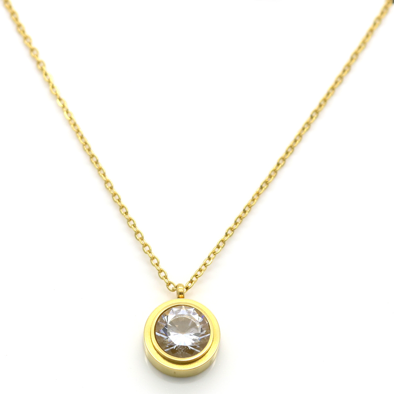 Online buy wholesale stainless steel necklace 10 from china fashion brand crystal necklace women collar necklace pendant rose gold color stainless steel necklace chain jewelry mozeypictures Gallery