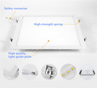 Ultra Thin 36W aluminum square recessed LED Downlight lights 400*400 flat panel lights AC85 265V SMD2835