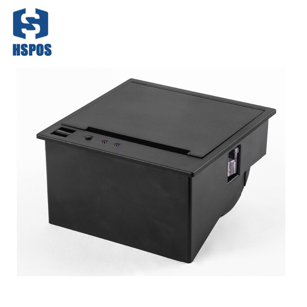 HS-EC80 80mm Panel Serial Rs232 Usb Thermal Printer Module With Cutter Embedded Reaspberry With Magnetically Locked Open Cove