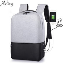 88f2ed4297cc Aelicy Anti-theft рюкзак usb зарядка Мужской ноутбук рюкзаки для подростков  мужской Mochila Дорожная школьная сумка с USB зарядн.