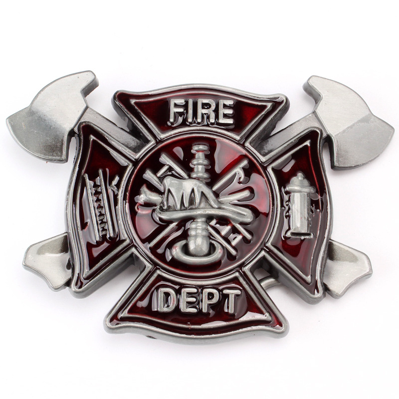 The Fire Alarm And The Fire Fighter Alloy Belt Buckle Man Belt Accessories