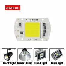 [YOYOLUO] LED COB Chip 50W 40W 30W 20W 5W AC 220V No need driver Smart IC LED bulb lamp For DIY LED lamp Floodlight Spotlight(China)