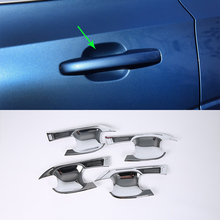 OUBOLUN ABS Chrome Car Protector Cover door handle bowl cover  4pcs Car Styling Accessories For  VOLVO XC60 2018 abs chrome for ford explorer 2020 2021 car styling accessories 4pcs car door handle door protector handle bowl cover trim