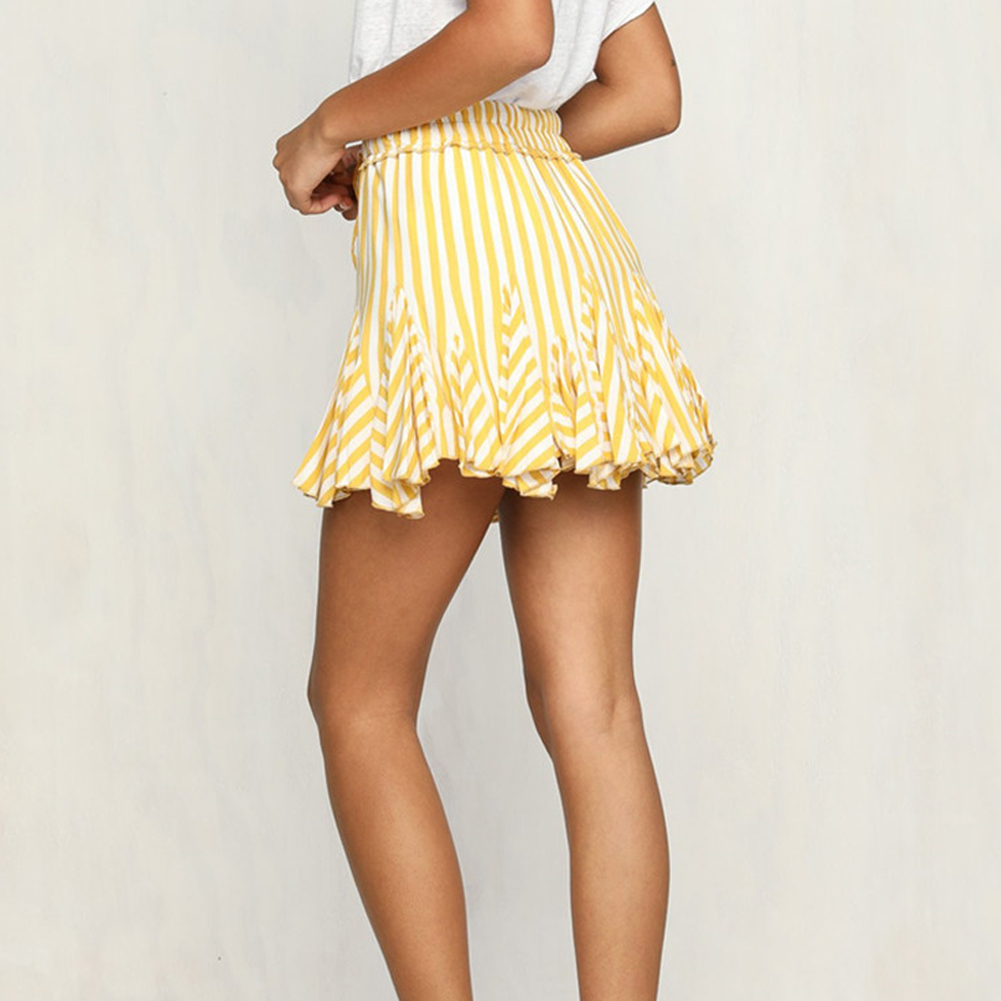 115d80899 2019 New Women Summer Sweet Striped Bubble Skirt Splicing All Beach ...