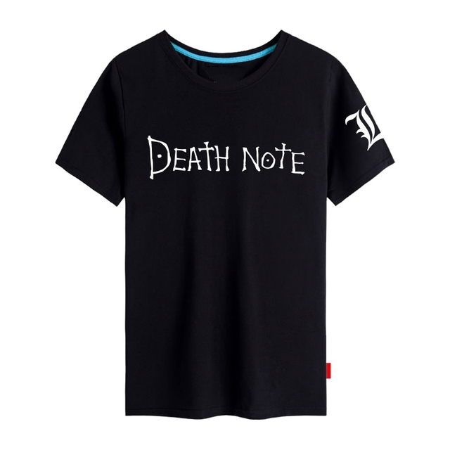 Death Maglietta Shirt Manica T Anime Cosplay Note L Luce Corta zMUqSGVp
