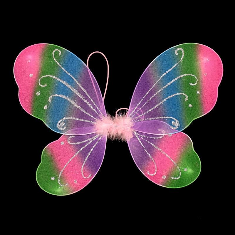 Alas de mariposa de hadas para niñas, 1 unids/lote, multicolor, 10 colores para elegir, decoración de fiesta de Halloween