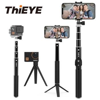 Bluetooth 34 inç Eylem Kamera Selfie Sopa Mini Tripod Uzatılabilir Monopod Için Gopro eken akason Tüm Eylem kamera Ve Akıllı Telefon