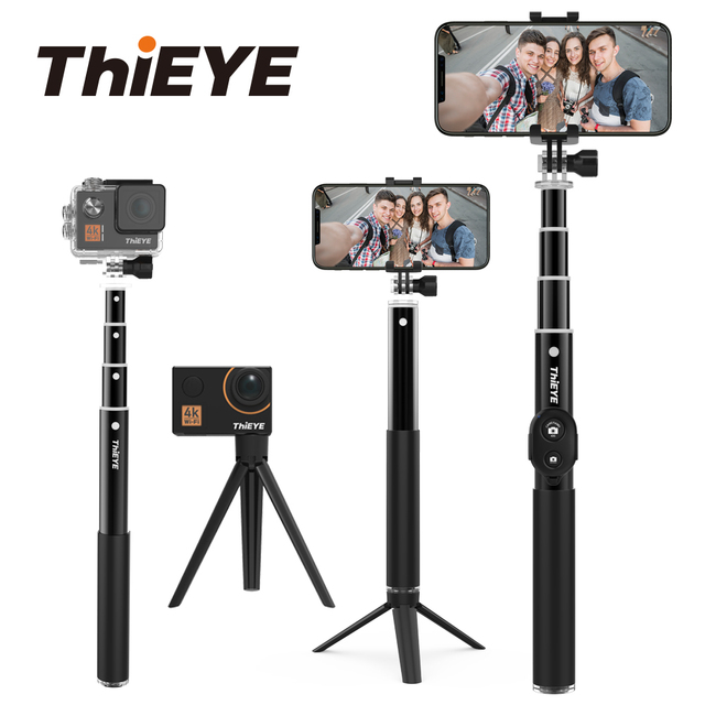 ThiEYE Bluetooth 34 inch Action Camera Selfie Stick Mini Tripod Extendable Monopod For All Action Cam And Smartphone For Gopro