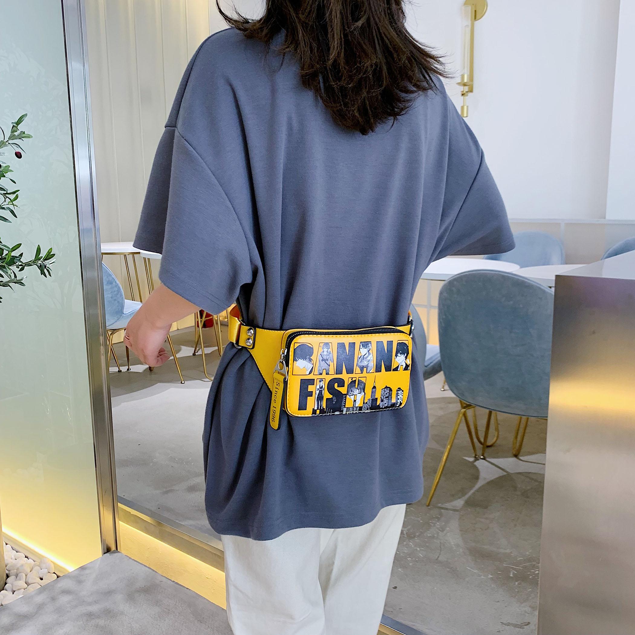 Graffiti Fanny Packs For Women 2019 New Designer Chest Bags Ladies Fashion Phone Purses Belt Bag Female Leather Waist Pack