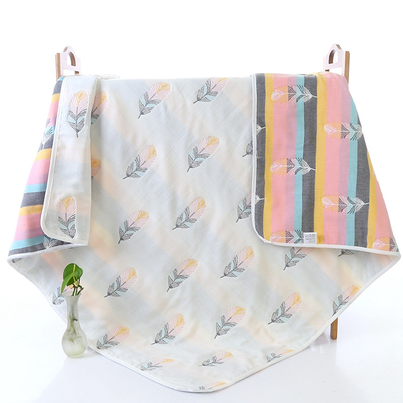 New 6 Layers Baby Blanket Multifunctional Cotton Gauze Kids Bedding Quilt Cover Autumn Newborn Receiving Blanket Kids Bath Towel 6 layers cotton muslin baby blanket swaddles bedding 2017 autumn & winter cartoon cute infant bath towel kids quilt size 47 47