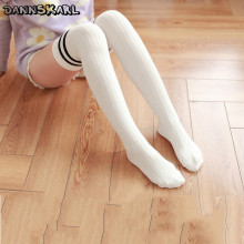2017 New Pattern Women Stockings Sweet Cotton Female Stockings Thigh High Long Hosiery Vertical Bar Overknee Stocking For Girl