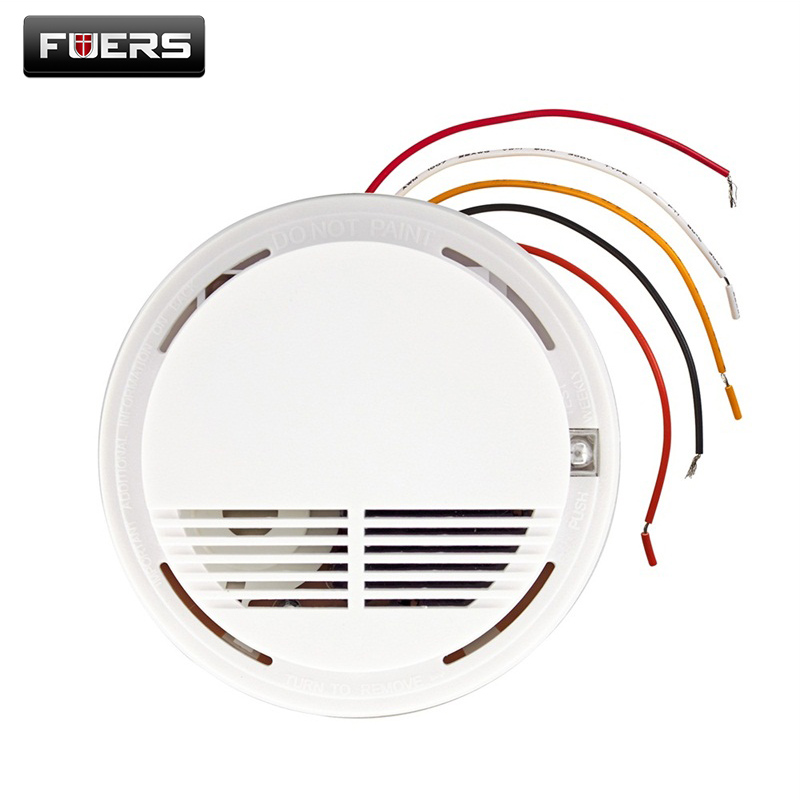 Wired Smoke/fire Detector Home Security Smoke Detector Alarm Sensor For GSM PSTN Burglar Alarm System 433mhz wireless water level detector sensor for pstn gsm alarm system for gsm home burglar security alarm system free shipping