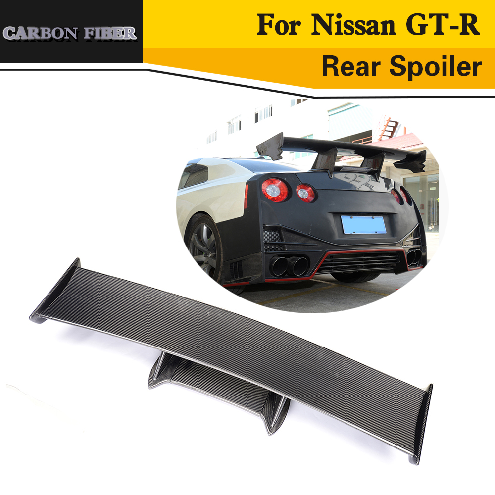 carbon rear spoiler lip wing car styling for For Nissan GT R 2009 2015