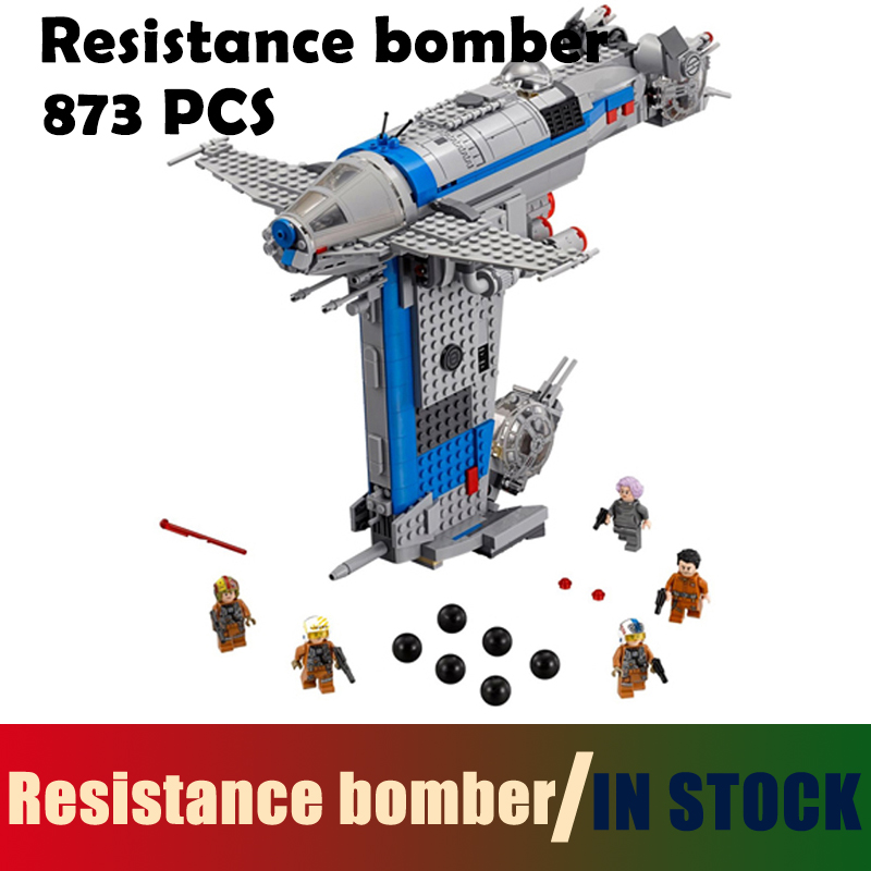 Compatible with lego Model Building Blocks toys Resistance bomber 873Pcs 05129 Star wars 75188 Educational DIY toys & hobbies