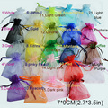 100pcs /bag , Selection 24 Colors Jewelry bag 7x9cm organza jewelry packaging display & Jewelry Pouches, free shipping