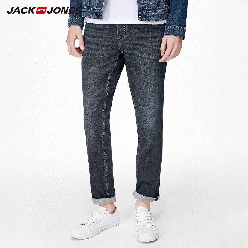 JackJones 2018 Marke Neue männer Elastische Baumwolle Stretch Jeans Hosen Slim Fit Denim Hosen männer Biker Mode 218132571
