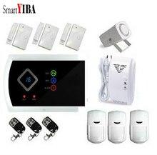 SmartYIBA GSM Autodial House Office Burglar Intruder Alarm System Gas Smoke Fire Sensors Spanish Russian French