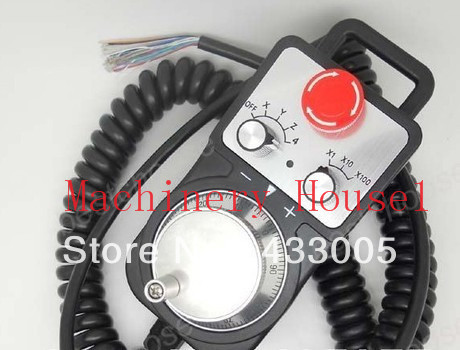 Universal CNC Router Hand Wheel 4 Axis MPG Pendant Handwheel & Emergency Stop for Siemens FAGOR GSK free shipping mach3 cnc usb mpg pendant for mach3 or 4 axis engraving cnc wireless handwheel
