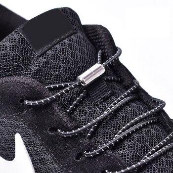 1 paire de lacets de verrouillage élastiques ronds sans lacets de chaussures enfants baskets adultes lacets chaussures de sport paresseux rapides lacets 25 couleurs