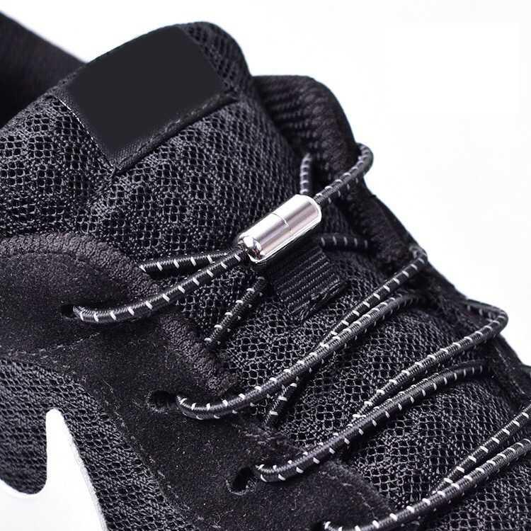 1 คู่ Elastic Locking Shoelaces รอบไม่มี Tie Laces รองเท้าเด็กผู้ใหญ่รองเท้าผ้าใบ Shoelaces ขี้เกียจรองเท้า Shoestrings 25 สี