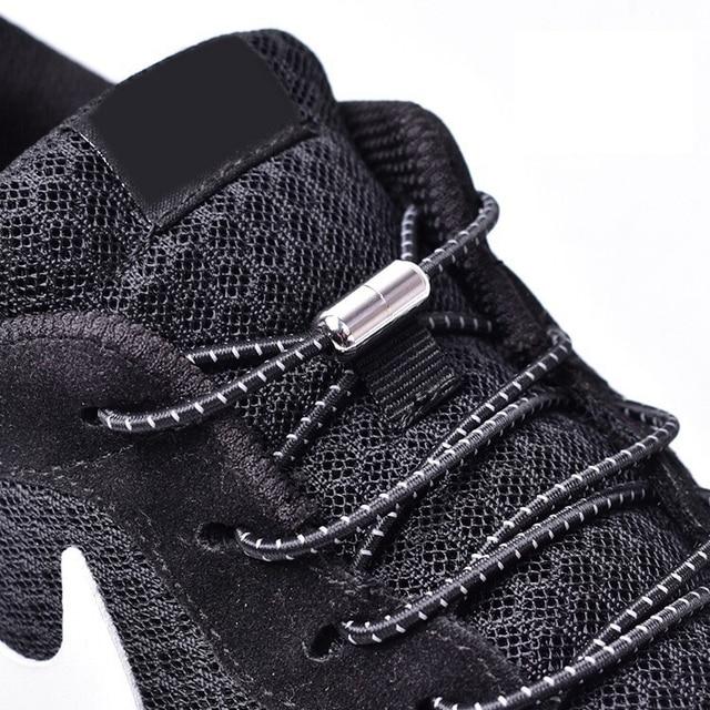 1 çift Elastik Kilitleme Ayakabı Hiçbir Kravat Ayakkabı Bağcıkları Çocuklar Yetişkin Sneakers Ayakabı Hızlı Tembel Ayakkabı Dantel Shoestrings 25 renkler