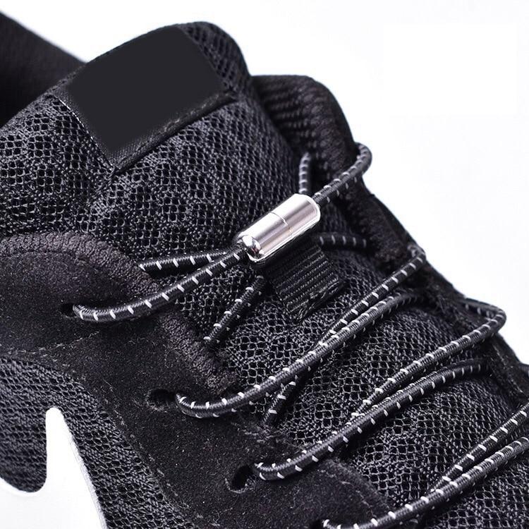 1Pair Elastic Locking Shoelaces Round No Tie Shoe Laces Kids Adult Sneakers Shoelaces Quick Lazy Shoe Lace Shoestrings 25 colors