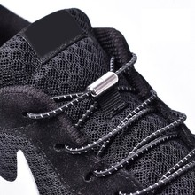 1Pair Elastic Locking Shoelaces Round No Tie Shoe Laces Kids Adult Sneakers Shoelaces Quick Lazy Shoe Lace Shoestrings 25 colors