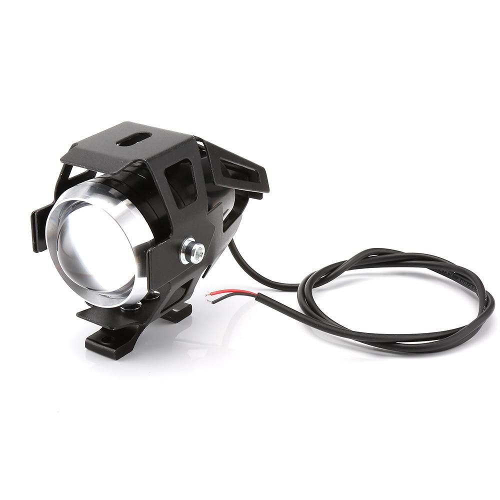 2pcs U5 LED Motorcycle Headlight 125W 12V 3000LM Transform Spotlight Water Resistant Aluminum Alloy High Quality Car LED Lights