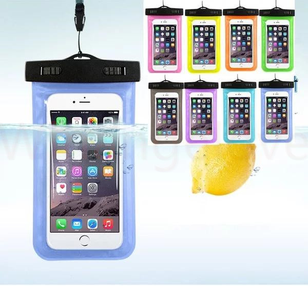 Universal For iphone 7 6 6s plus samsung S7 Waterproof Case bag Cell Phone Water proof