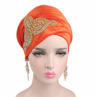 2017 New Flame Drill Velvet Scarf Wrapped Head Hat Muslim Long Tail Scarf Headband TJM 38H