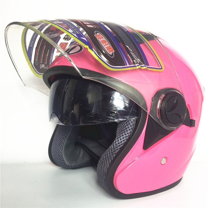 pink color moto casco DOT Approved Double Lens Motorcycle Helmet Casco Racing Capacete With Inner Sun Visor