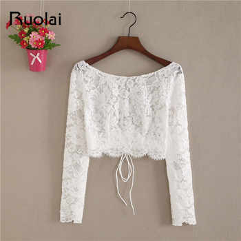 New Arrival O Neck Lace Jacket Wedding Bolero Women Long Sleeve Bridal Wrap Wedding Coat Lace Jacket Boho Wedding FJ32 - DISCOUNT ITEM  0% OFF All Category