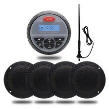 Haut parleur de bateau, Radio stéréo Bluetooth, Radio stéréo FM AM USB, étanche, pour bateau, extérieur, ATV UTV, moto + antenne