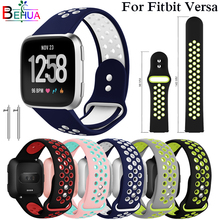 Sport watchband For Fitbit Versa watch Replacement Silicone Wristband strap band smart Accessories