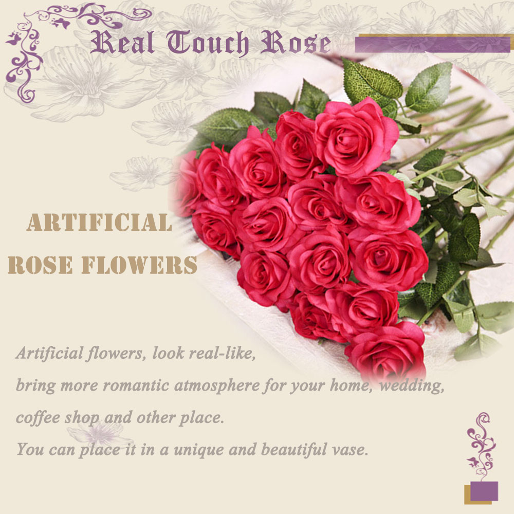 Aliexpress buy pawca 10pcs flores artificiales real touch pawca 10pcs flores artificiales real touch artificial rose flower bouquets wedding party flowers for vase home decorations izmirmasajfo