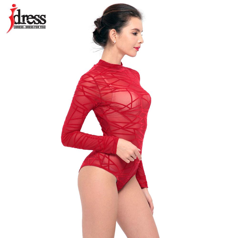 Women-See-Through-Mesh-Sheath-Bodysuits-Rompers-Lady-female-Sexy-Turtleneck-Long-Sleeve-Night-Club-Body (3)