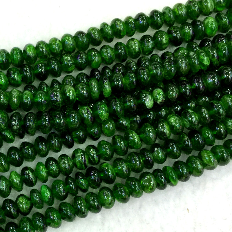 Wholesale Natural Genuine Green Chrome Diopside Rondelle Loose Beads 3x6mm DIY Jewelry Necklaces or Bracelets 15 04064