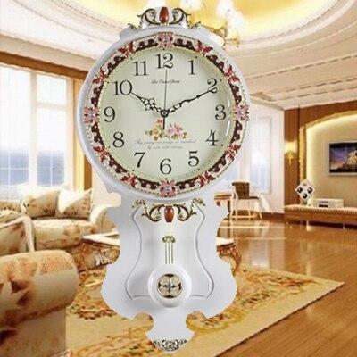 Подлинная Европейская Высококачественная сплошная деревянная стена часы простые гостиная спальня роскошные современные дизайнерские нас