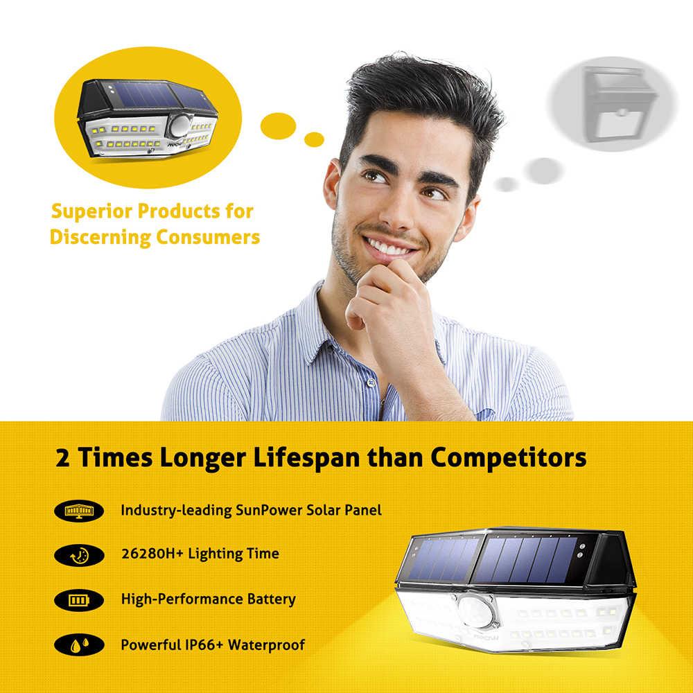 Mpow CD137 30 светодиодный солнечный светильник для сада Ipx7 водонепроницаемая лампа на солнечной энергии Широкий формат солнечная движения Сенсор для пути Garage/бассейн